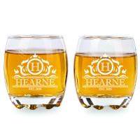 2 gab. Gravētas viskija glāzes komplekts, personalizētas kvadrātveida Rocks Glass dāvana līgavainim, 275ml
