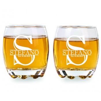2 gab. Personalizēts viskija glāze, iegravēts Jūsu teksts, 275ml