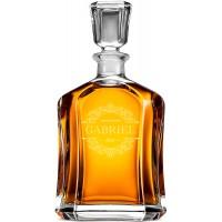 Dāvana līgavainim karafe viskijam 700ml personalizēts karafe ar monogrammu, stikls