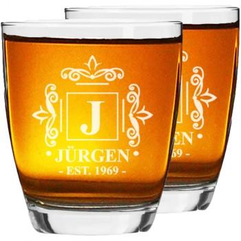 50. dzimšanas dienas dāvanas vīriešiem Personalizētu viskija vai burbona glāžu komplekts