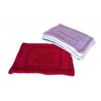 Personalizēta suņu gulta kaķu gulta, pievienojiet mājdzīvnieka vārdu, mazgājama, izmērs 60x40 CM (sarkana)