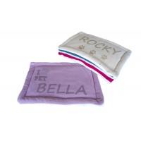 Personalizēta suņa un kaķa gulta, mazgājama, paklājs mājdzīvnieku mītnei, izmērs 60x40 cm (violeta) (violeta)