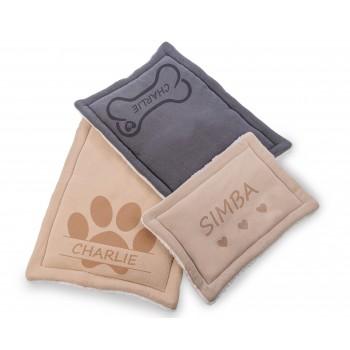 Personalizēta lolojumdzīvnieku gulta suņiem, liela, 60x80 CM, mīksta un ērta (bēša)