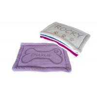 Personalizēta guļvieta suņiem, izmērs 60x40 CM, mīksta un ērta (violeta)
