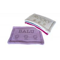 Personalizēta suņa un kaķa guļvieta, mazgājama, paklājs mājdzīvnieku mītnei, izmērs 60x40 cm (violeta) (violeta)