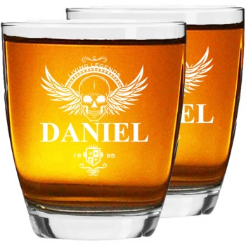 60. dzimšanas dienas dāvanas vīriešiem Gravētu viskija glāžu komplekts 2 gab. lieliska dāvanas ideja vīriešiem, līgavaiņa dāvana, izmērs 390ml