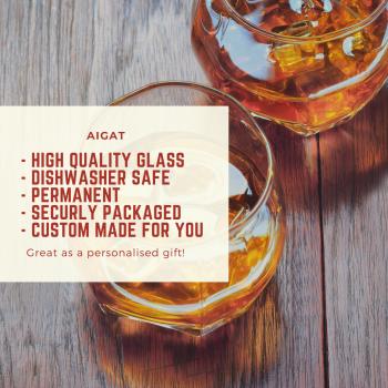 2 gab. Personalizētas gravētas viskija glāzes kāzu ballītei, Viskija glāze 275ml