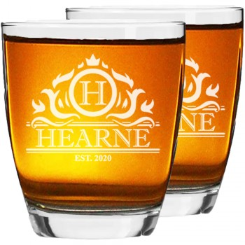 30. dzimšanas dienas dāvanas vīriešiem 2 gab. Personalizētas gravētas viskija vai ruma glāzes, izmērs 390ml
