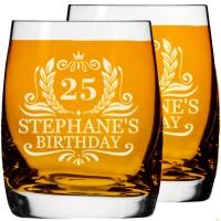 Personalizētu viskija glāžu komplekts Vīriešiem dzimšanas dienas dāvana ar iegravētu tekstu, izmērs 250ml