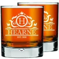 """2 gab. Personalizētas gravētas viskija glāzes, glāze """"Rocks Glass"""", skotu glāze, glāze """"Low Ball Glass"""" 270ml"""
