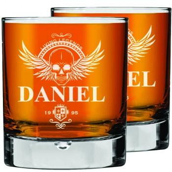 2 gab. personalizētas viskija glāzes kā lieliska dāvanas ideja vīriešiem, līgavaiņa dāvana, izmērs 270ml